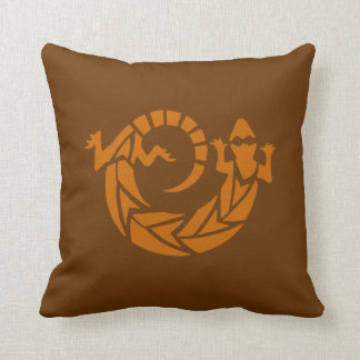 Brown Gecko Southwestern Pillow