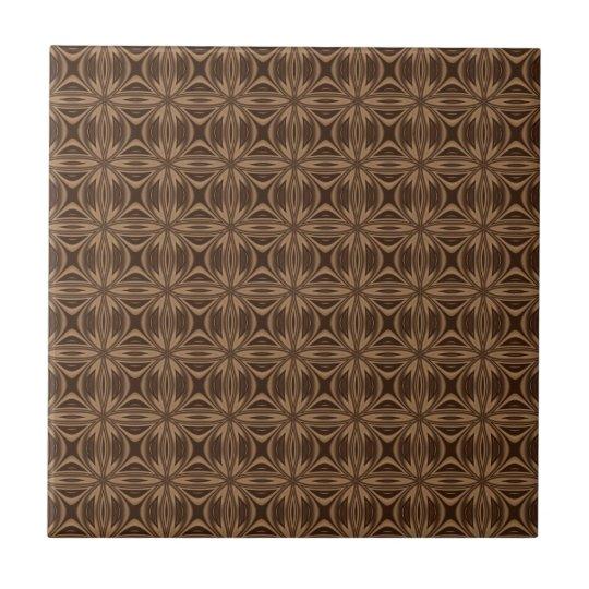 Brown Geometric Pattern Ceramic Tile Zazzle