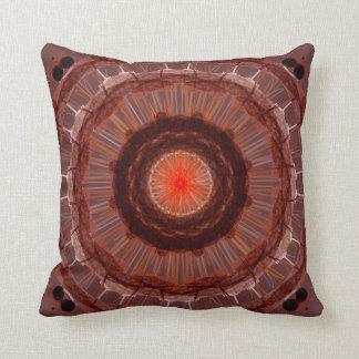 Brown geométrico y americano anaranjado MoJo pi de Cojines