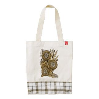 Brown Gerbera Daisy Flower Bouquet Zazzle HEART Tote Bag