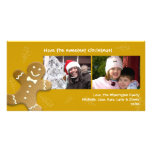 Brown gingerbread man sweet candy canes Christmas Card