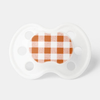 Brown Gingham Check Pattern Pacifier