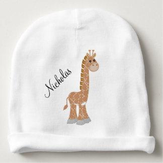Brown Giraffe Baby Beanie