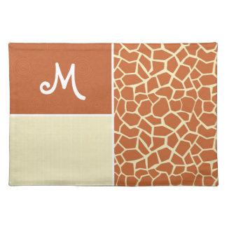 Brown Giraffe Pattern Placemat