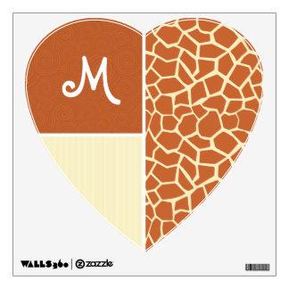 Brown Giraffe Pattern Room Graphic