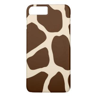 Brown Giraffe Print iPhone 7 Plus Case