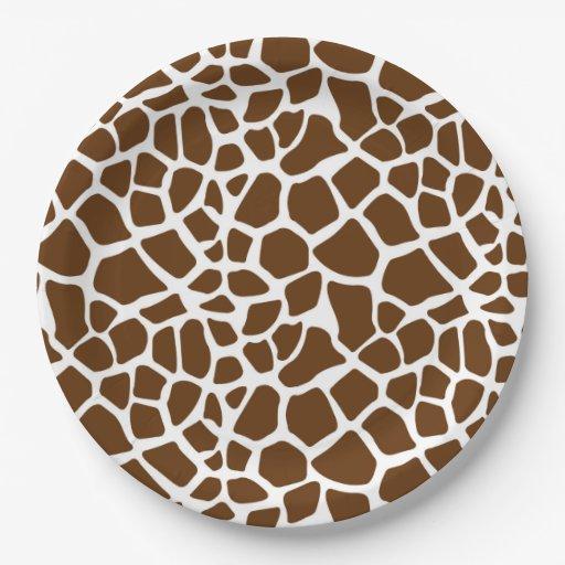 Brown Giraffe Print Paper Plate Zazzle  sc 1 st  Castrophotos & Print Paper Plates - Castrophotos