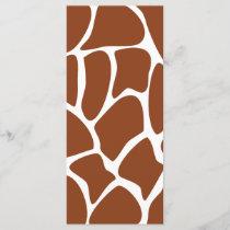 Brown Giraffe Print Pattern.