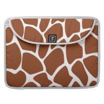 Brown Giraffe Print Pattern. MacBook Pro Sleeve