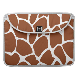Brown Giraffe Print Pattern. MacBook Pro Sleeve