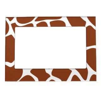 Brown Giraffe Print Pattern. Photo Frame Magnet