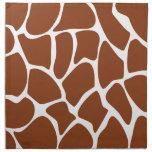 Brown Giraffe Print Pattern. Napkins