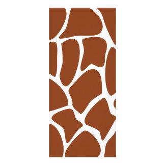 Brown Giraffe Print Pattern. Rack Card