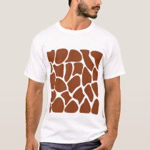 Brown Giraffe Print Pattern. T-Shirt