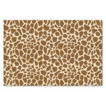 Brown Giraffe Print Pattern Tissue Paper