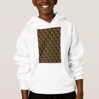 Brown Glass Abstract Fractal Hoodie
