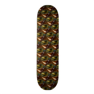 Brown Glass Abstract Fractal Skateboard