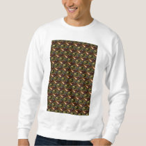 Brown Glass Abstract Fractal Sweatshirt