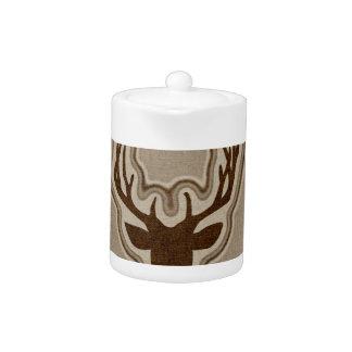 Brown Glowing Deer Buck Teapot