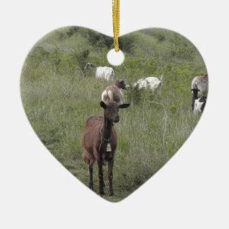 Brown Goat Ceramic Ornament