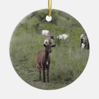 Brown Goat Christmas Tree Ornament