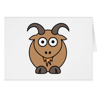 Brown Goat Greeting Card