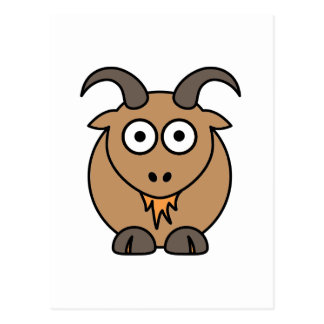 Brown Goat Post Card