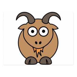 Brown Goat Postcard