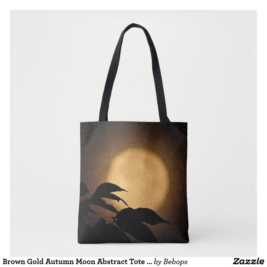 Brown Gold Autumn Moon Abstract Tote Bag