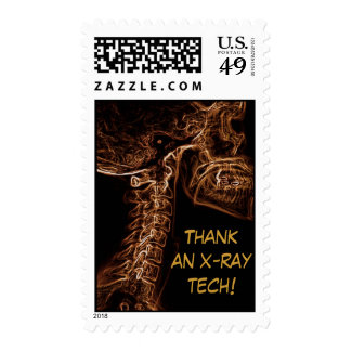 Brown/Gold C-Spine X-ray postage stamp