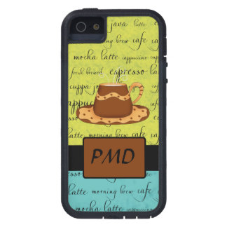 Brown Gold Coffee Green Turquoise Script Monogram iPhone SE/5/5s Case