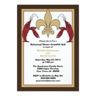 "Brown Gold Crawfish Boil Event Invitations 5"" X 7"" Invitation Card"