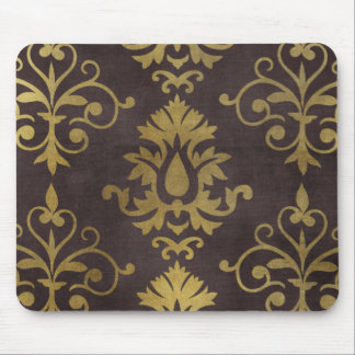 brown gold damasks pattern background mouse pad