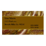 Brown & Gold Floral Vintage Double-Sided Standard Business Cards (Pack Of 100)