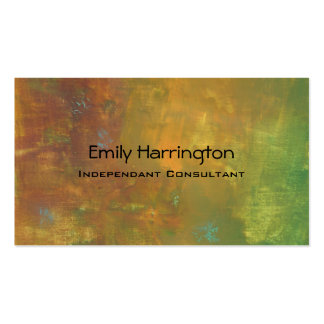 Brown Gold Green Earthy Abstract Design Business Card