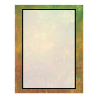 Brown Gold Green Earthy Abstract Design Letterhead