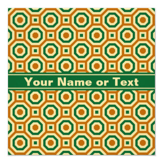 Brown/Gold/Green Nested Octagons Invitation