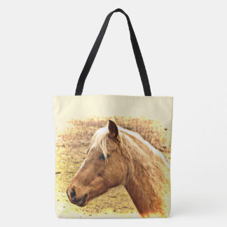 Brown Gold Horse in Sun Animal Tote Bag