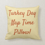 Brown & Gold Reversible Turkey Day Nap Time Throw Pillow
