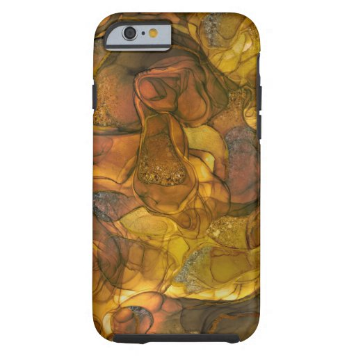 Brown gold sparkle dreams iPhone case