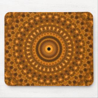 Brown & gold spirles fractal design mouse pad