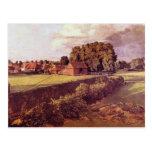 Brown Golding Constable's Flower Garden, John Cons Postcard