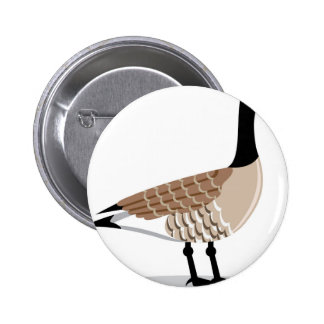 Brown Goose vector Stylized Pinback Button
