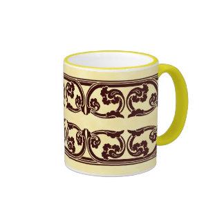 Brown Gothic Border Coffee Mug