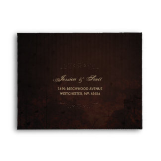 Brown Gothic Halloween Matching RSVP RETURN Envelope