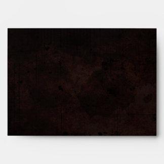 Brown Gothic Halloween Matching Wedding Envelope