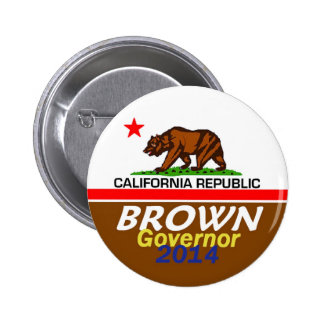 BROWN Governor 2014 Button