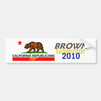 BROWN Governor Bumper Sticker