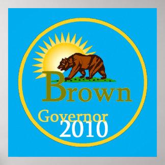 BROWN Governor POSTER Print
