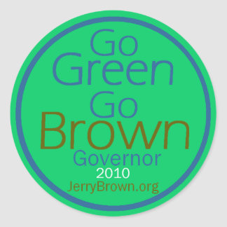 BROWN Governor Sticker